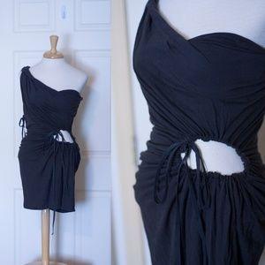 AllSaints One Shoulder Drawstring Dress